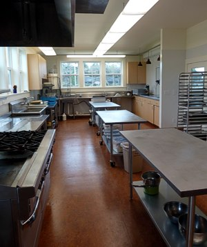 Commercial Kitchen. Have your Wedding on the Mendocino Coast at the Caspar Community Center. Photo by Dalen Anderson.